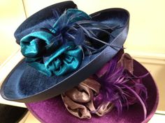 Lush teal and purple velvets