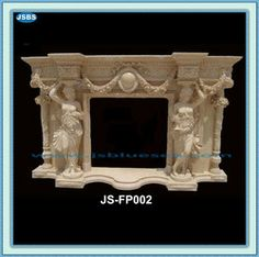 Freestanding Honed Marble Fireplace Mantel: Be Customized carved reply supply Marble Fireplace Mantel, Marble Fireplaces, Fireplace Surrounds, Fireplace Mantels, Honed Marble, Hand Carved, Natural, Buildings, Home Decor