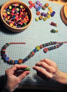 Sewing Felt Beads