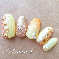 Make an original manicure for Valentine's Day - My Nails Cute Acrylic Nails, Cute Nails, Pretty Nails, Sea Nails, Hard Nails, Japanese Nail Art, Diy Nail Designs, Halloween Nail Art, Gorgeous Nails