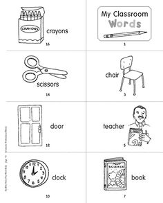 Is your preschooler new to a school setting? Help your child learn classroom words with this printable reading minibook.