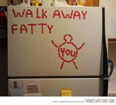 haha even though all i would do is laugh and dig in.i think this is funny Humor Ingles, Just Keep Walking, Just In Case, Just For You, Haha, Fitness Motivation, Workout Fitness, Fitness Humor, Funny Motivation