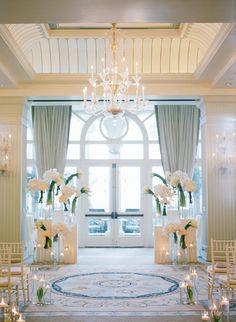 #aisle-decor  Photography: Erin Hearts Court - erinheartscourt.com  Read More: http://www.stylemepretty.com/2014/10/31/white-on-white-santa-monica-winter-wedding/