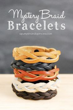 15 DIY Leahter Braid Bracelet