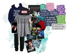 """""""Tag"""" by katieb12 ❤ liked on Polyvore featuring Alternative, Marvel Comics, Paul Brodie and Sharpie"""