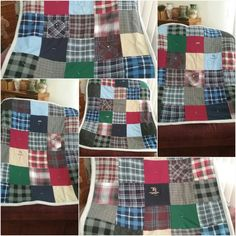 Five Memory lapsize  quilts I made July 2017