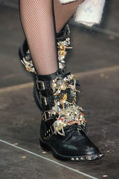 #boots from #SaintLaurent A/W '13 #PFW
