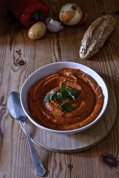 Hummus de pimiento y calabaza