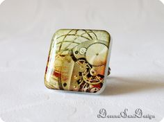 Ring Steampunk Gift idea for her under 20 30 50 by SunDevonaDesign, $12.00