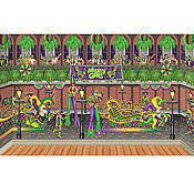 Our Mardi Gras Scene Setters will turn your party into a walk down Bourbon Street complete with parade floats, beads and Mardi Gras fun! Mardi Gras Centerpieces, Mardi Gras Decorations, Wall Decorations, New Orleans Party, New Orleans Mardi Gras, Scene Setters, Stage Set Design, Mardi Gras Parade, Theme Background