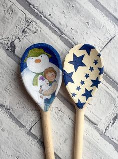 Christmas Decorative Wooden Spoons you choose by CreativeMumUK