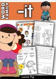 FREE Word Family Word Work Unit - IT. A comprehensive, 93-page unit with instruction materials, center games and activities and No Prep worksheets