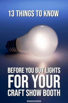 13 things to know before you buy portable lights for your craft show booth. Craft Show Booths, Craft Booth Displays, Retail Displays, Display Ideas, Pvc Pipe Crafts, Sand Crafts, Selling Handmade Items, Selling Crafts, Content Marketing