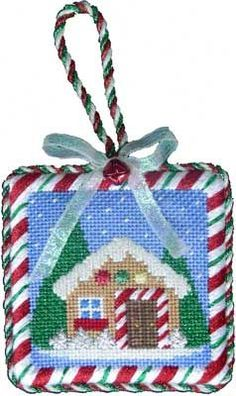 Associated Talents needlepoint gingerbread house ornament