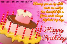 Birthday Wishes for Daughter Messages, Greetings and Wishes - Messages, Wordings and Gift Ideas Birthday Message For Daughter, Birthday Greetings For Daughter, Birthday Cake For Him, Birthday Ideas For Her, Birthday Quotes For Him, Birthday Card Sayings, Birthday Wishes For Myself, Best Birthday Wishes, Girl Birthday Themes