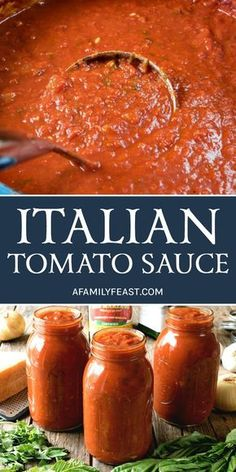 An authentic and delicious Italian Tomato Sauce that has been passed down through generations. So good, it's sure to become your family's go-to sauce recipe! # pasta sauce recipes The Best Italian Tomato Sauce - A Family Feast® Pasta Sauce Recipes, Red Pasta Sauce, Easy Pasta Sauce, Recipes With Mint Sauce, Pasta Sauce To Freeze, Lasagna Sauce Recipe, Pasta Sauce Seasoning, Chicken Sauce, Meat Sauce