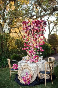 Stylish garden chandelier Ideas (10)