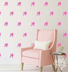 Poodle wall decal / Doggie Wall Decals / 36 Poodles Wall Sticker / Custom Kids Rooml / Nursery Home Decor / removable / gift -- Click image for more details. (This is an affiliate link) #KidsRoomDecor