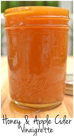 Honey Vinaigrette Salad Dressing made with raw honey & apple cider vinegar… [Sub veg oil for paleo friendly oil] Vinagrette Dressing Recipe, Vinegar Salad Dressing, Salad Dressing Recipes, Salad Dressings, Avacado Dressing, Apple Cider Vinegarette, Honey Apple Cider Vinegar, Apple Cider Vinegar Dressing Recipe, Honey Recipes