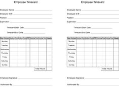 Daily Time Sheet Form  Free Printable House Cleaning Checklist