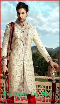 Getting ready for a party or wedding? Your search ends here with this wonderful Groom Sherwani ever made at shahihandicrafts , Ambala Cantt Why buy a dress you won't wear again? Make a new designer look yours for every occasion without burning a hole in your wallet! Rent it. Rock it! Return it. a.)         Now, call or what's app +919996607694 to confirm that your outfit is available with us.   b.)         How to visit ShahiHandicrafts: Ambala Cantt