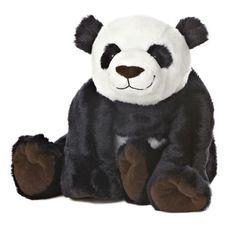 "14"" Aurora Plush Panda Bear Black & White Flopsie Stuffed Animal Toy Fortune #Aurora"