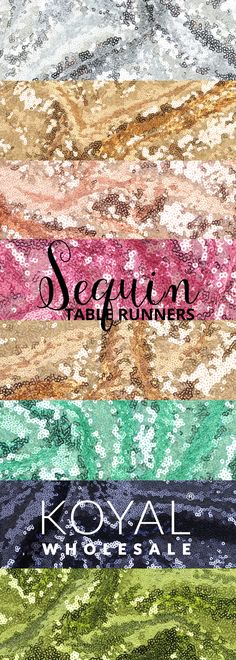 Koyal Wholesale High Density Sequin Table Runners Sale | 10+ Colors  Popular Colors Include: Gold Champagne Blush Pink Diamond Blue Navy Blue Rose Gold Silver Lime Green Red Black  DIY Sequin Table Runners Bulk Wholesale from Koyal Wholesale, the Leader in Wedding & Event Supplies