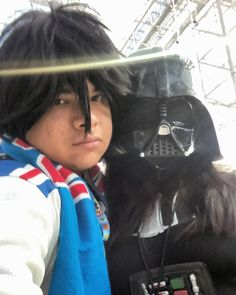 How about that trailer for Star Wars: The Force Awakens last night?! Well Kirito (New York Rangers) and Lady Vader liked it! Hopefully everyone else liked it and we can wait for December 18th for when it comes out in theaters! Kirito (New York Rangers) and Lady Vader at NYCC 2015! Sorry Asuna but this girl has taken me on a date to the Dark Side of The Force! #Kirito #KazutoKirigaya #KiritoCosplay #SAO #SwordArtOnline #SAOCosplay #SwordArtOnlineCosplay #Anime #AnimeCosplay #DarthVader…