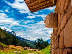 """In the """"Chavin de Huantar"""" temple, located in #Ancash, your eyes will be drawn to distinctive statues on the walls. These are the famous """"Cabezas Clavas,"""" sculptures which represent mythological beings from this pre-Incan culture. #Peru has much history still to tell! // Visita el Templo de Chavín de Huántar, en Áncash, donde encontrarás unas llamativas esculturas. Se trata de las #CabezasClavas, las cuales representan a seres mitológicos de esta cultura. ¡El #Perú te espera!"""