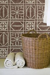 Our Fez Blanket Moroccan Stencil is inspired by the Fez blanket textiles of Morocco. Mix or Match with our other Moroccan stencils in the Fez series to create beautiful stenciled walls, furniture, flo