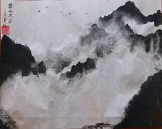 Montagnes de nuages... lavis