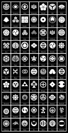 """explodingrocks: """" Mon, Kamon or Monokoro. 201 Designs from various samurai Clans and their families. The designs are beautiful. And each clan emblem has multiple versions. Japanese Tattoo Symbols, Japanese Symbol, Japanese Tattoos, Japanese Patterns, Japanese Design, Design Blog, Logo Design, Design Design, Family Crest Tattoo"""