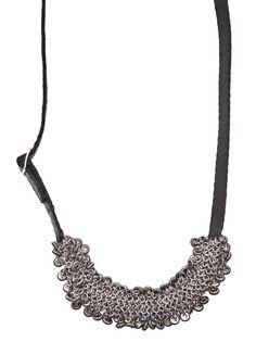 JEAN-FRANCOIS MIMILLA Leather Necklace