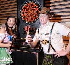 Read about the Oktoberfest Celebration special event we put together. Guests were greeted by costumed actors in Lederhosen as they entered the venue. German Beer, Beer Tasting, Lederhosen, Darts, Corporate Events, Special Events, Celebration, Actors, Fun