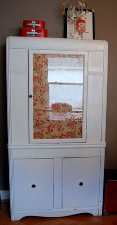 fabric covered windows - for hutch?