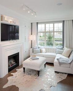 A small living room can present a few design challenges, but with the right design ideas, small spaces can be transformed to create magnificent living room. A great way to make a small living room feel larger is to keep… Continue Reading → Narrow Living Room, Home Living Room, Apartment Living, Living Room Designs, Living Room Decor, Apartment Ideas, Small Living Room Layout, Small Living Room Sectional, How To Decorate Small Living Room