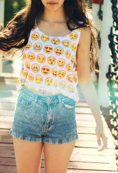 Emo Smiles Crop top - Fresh-tops.com