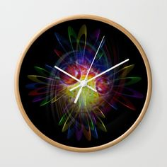 "New to society6!  Available in natural wood, black or white frames, our 10"" diameter unique Wall Clocks feature a high-impact plexiglass crystal face and a backside hook for easy hanging. Choose black or white hands to match your wall clock frame and art design choice. Clock sits 1.75"" deep and requires 1 AA battery (not included)."