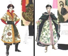 The Snow Queen (Prince and Princess). Theatre Royal, York. Costume design by Colin WInslow.