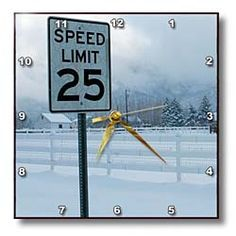 A speed limit sign that says 25  Wall Clock