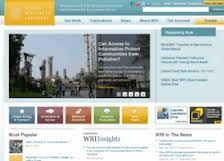 World Resources Institute es un portal con recursos e información sobre el cambio climático y la degradación de los ecosistemas.