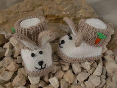 Babyschuhe stricken // Hasen-Schuhe stricken