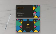 Adrian Marshall - Business Card Business Card Design, Creative Business, Business Cards, Visiting Card Design, Corporate Identity, Card Templates, Lipsense Business Cards, Card Patterns, Branding