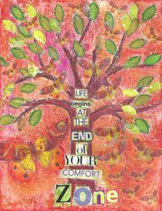 comfort zone art journal #art