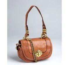 orYANY - Cognac Leather Mini Shoulder Bag
