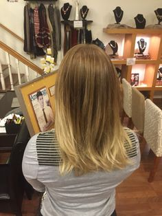 2 sessions and she went from black hair to this. #patience #wella #olaplex #color #bayalage #ombre