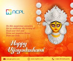 Happy Vijayadasami To all My friends and well Wishers May Goddess Durga bless you abundantly with good health and happiness. Fond Greetings and Blessings for a happy Vijayadasami.. #Dussehra #Vijayadasami #festivemood