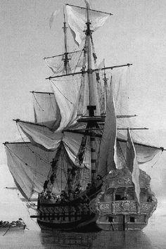 www.pinterest.com/1895gunner/ | 17th Century Sailing Ship