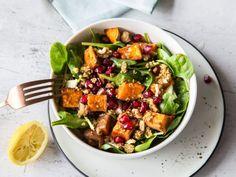 Dolle Knolle an die Macht: Süßkartoffel-Spinat-Salat mit Quinoa