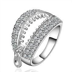 Arnarra Sterling Silver Plated Rings Cubic Zirconia